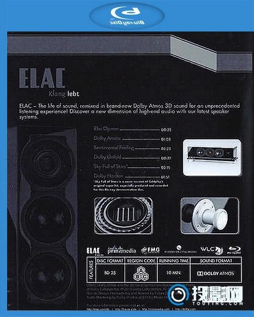 [蓝光原盘6] ELAC 意力杜比全景声演示碟 (2015)蓝光原盘/2.0 GB