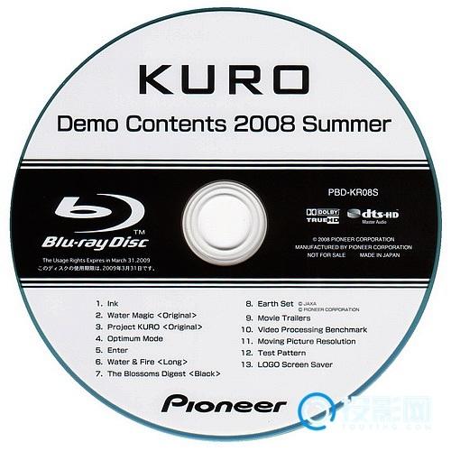 [蓝光原盘37] 先锋KURO蓝光演示碟 2008 原盘/ 15GB