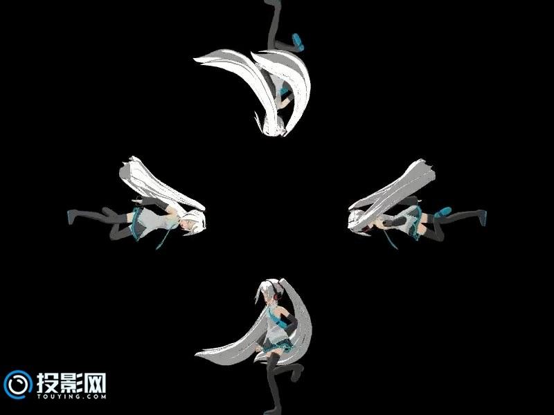 【冷色调的动感舞蹈】初音未来全息资源下载[百度云/46MB]