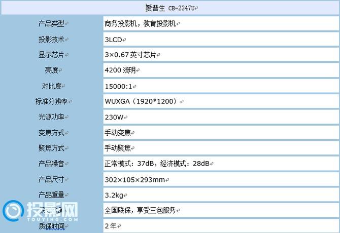 商业用户最佳伴侣 爱普生CB-2247U商务投影体验评测