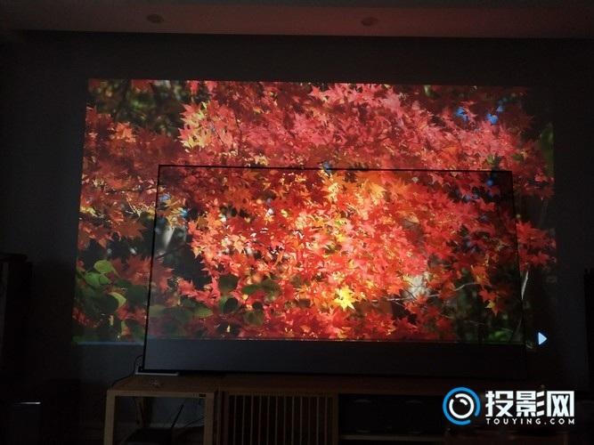 抗光灰幕布和白墙的投影效果对比【实测的干货】