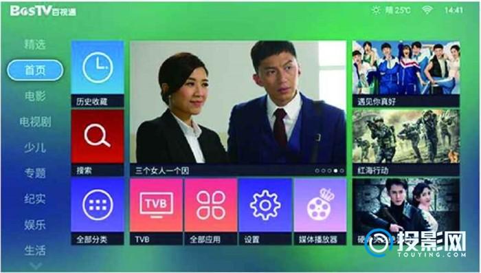 奥图码I5+超高清智能投影机