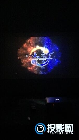 坚果J7投影仪昨天晚上第二天了,看的永夜,爽!