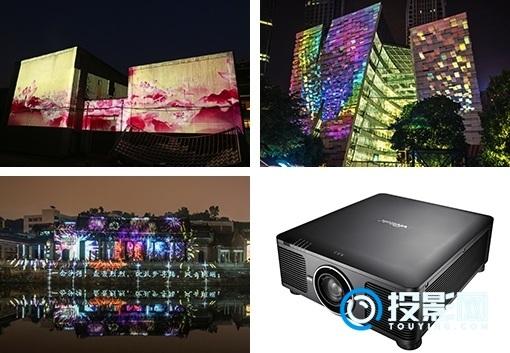 光影与夜景的梦幻交织 Vivitek(丽讯)投影机点亮城市之夜