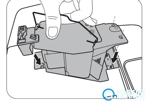 明基投影仪如何更换灯泡?